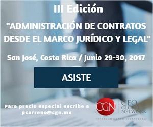 Administración de Contratos desde el Marco Jurídico y Legal, 29-30 junio, Costa Rica