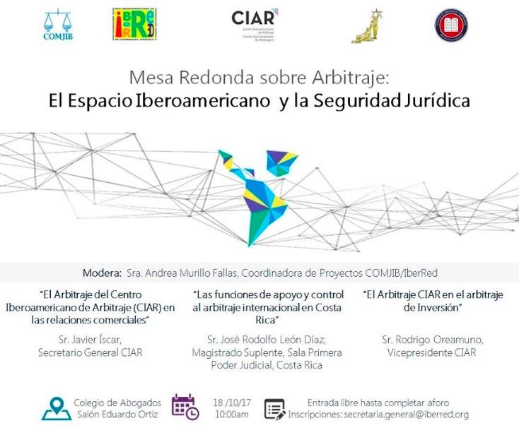 Espacio Iberoamericano y Seguridad Jurídica, 18 de octubre en Costa Rica