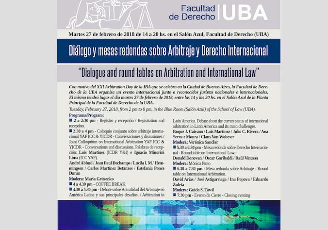 Diálogos sobre Arbitraje y Derecho Internacional, Buenos Aires
