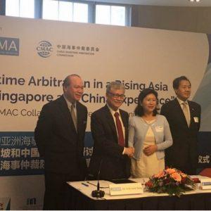 China Maritime Arbitration Commission (CMAC) and Singapore Chamber of Maritime Arbitration (SCMA)