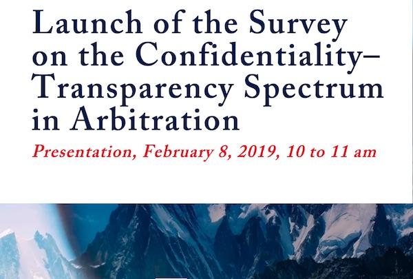 Lanzan encuesta sobre el valor de la confidencialidad y la transparencia en arbitraje