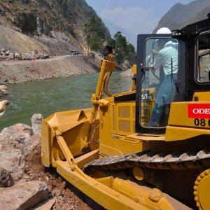 Presidencia Perú. Presidente Ollanta Humala participó en desvío del río Huallaga e inicio de la construcción de la Central Hidroeléctrica de Chaglla