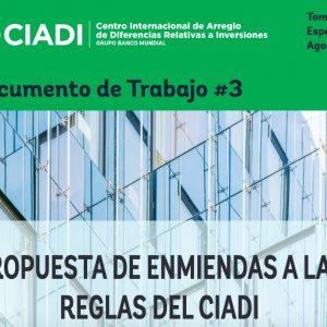 Enmiendas 3 CIADI