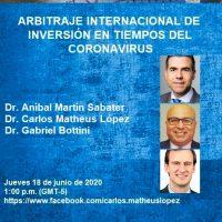 Arbitraje Internacional de Inversión en Tiempos del Coronavirus