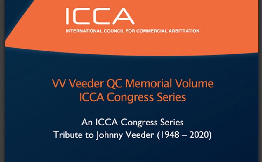 ICCA publica un volumen memorial del árbitro internacional V.V. Veeder