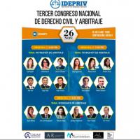 III Congreso Nacional de Derecho Civil y Arbitraje, 24-27 de noviembre