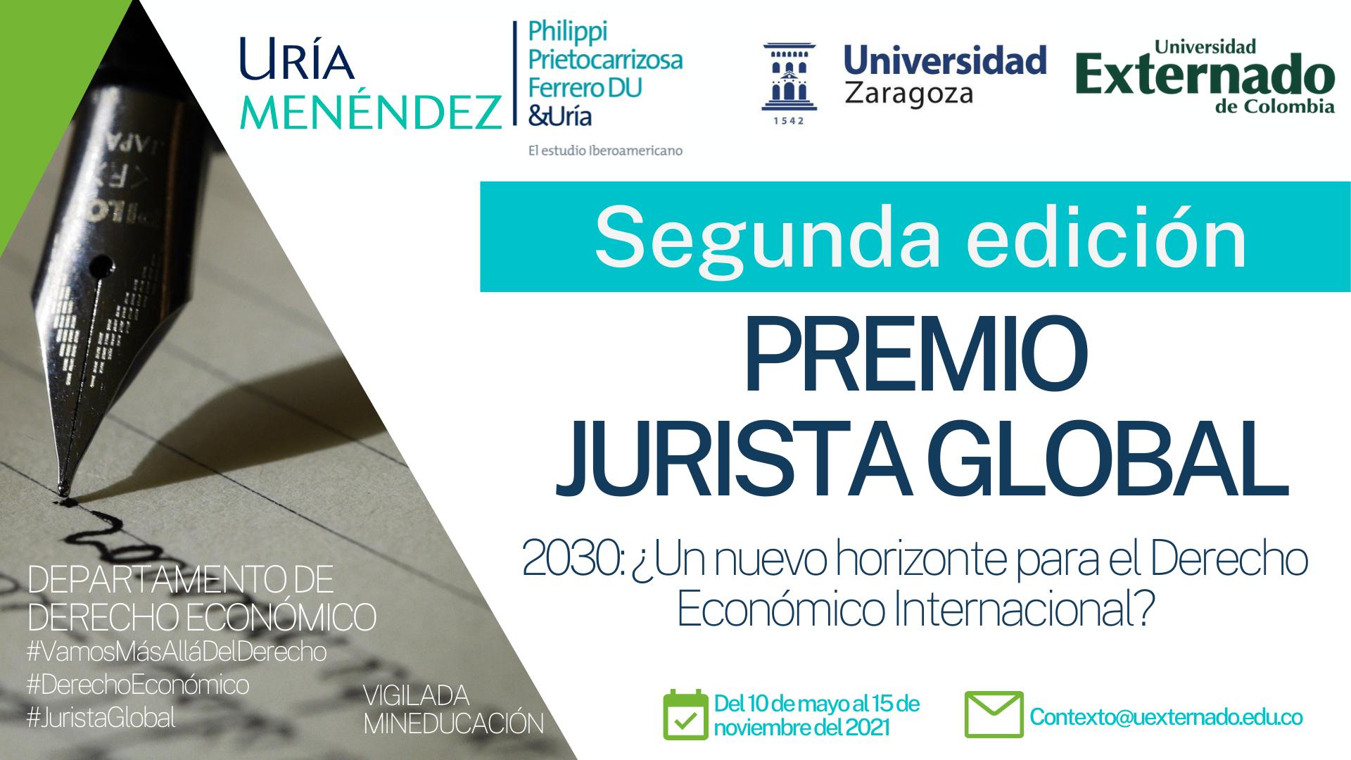 """Segunda edición del premio de ensayos jurídicos """"Jurista Global"""""""