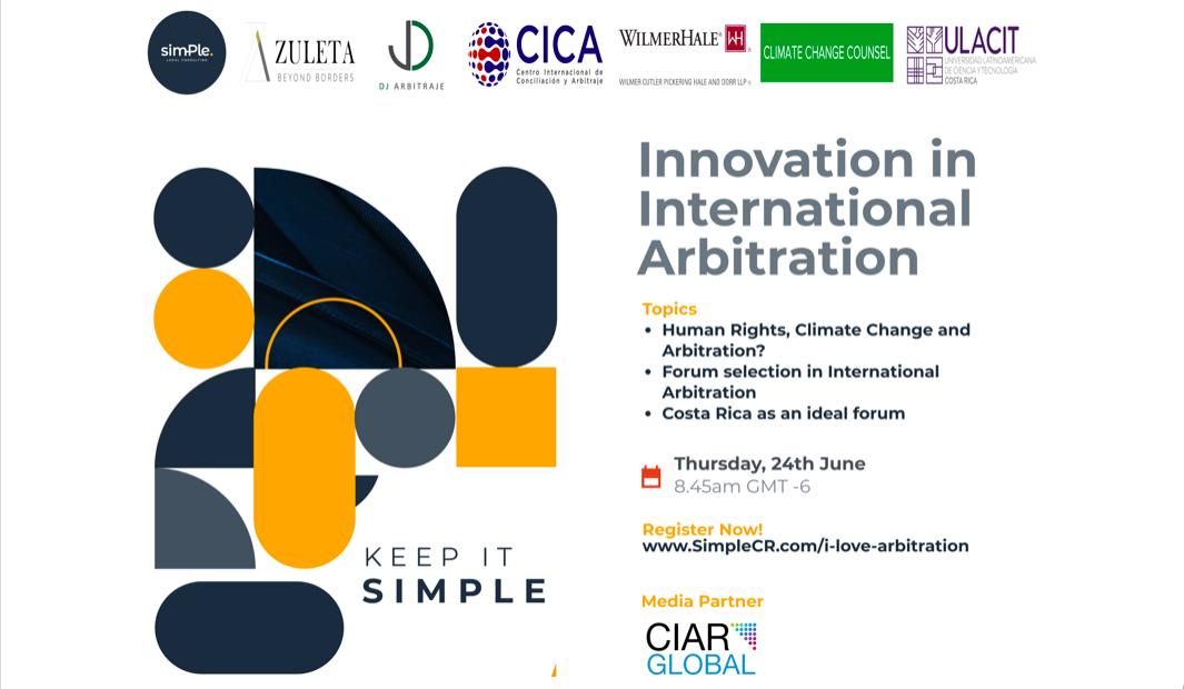 Innovation in International Arbitration, 24th June, 2021