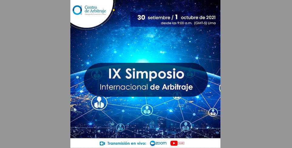 IX° Simposio Internacional de Arbitraje | Cámara de Comercio de Lima